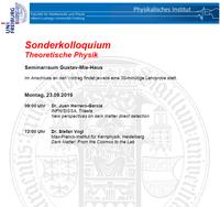 Sonderkolloquium: Theoretische Teilchenphysik, 23.09.2019