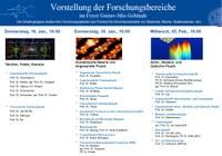 Vorstellung der Forschungsbereiche am 16.01., 30.01. und 05.02.2020