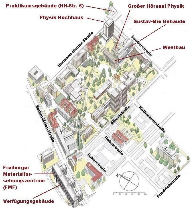 Lageplan Physikalisches
