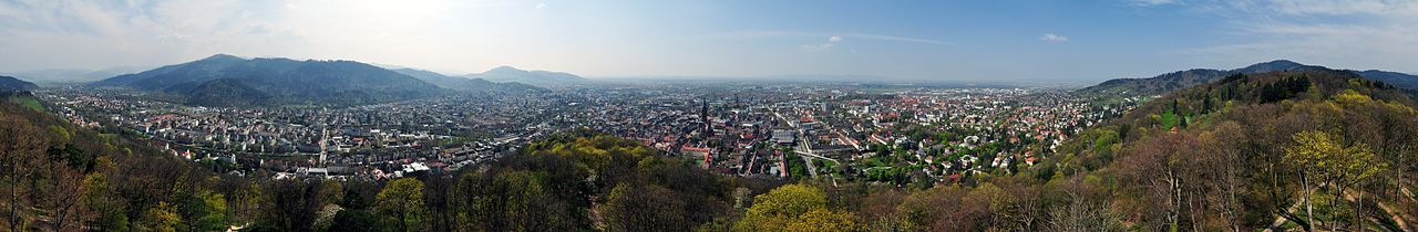 Freiburg view from Schlossberg